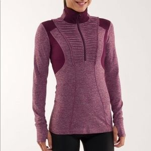 LULULEMON Run Your Heart Out Half Zip Jacket